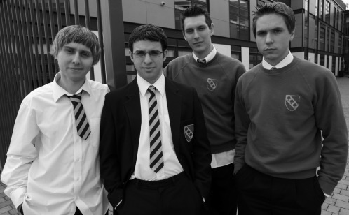James Buckley, Simon Bird, Blake Harrison and Simon Cooper (from left)